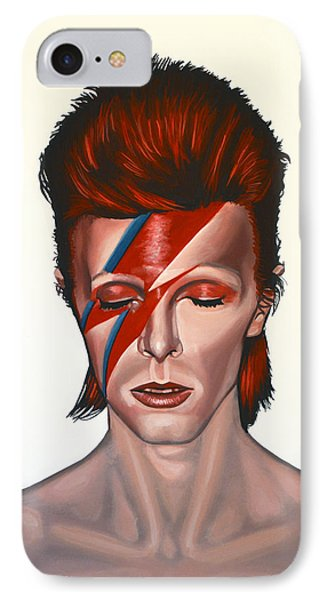 Musicians iPhone 8 Case - David Bowie Aladdin Sane by Paul Meijering