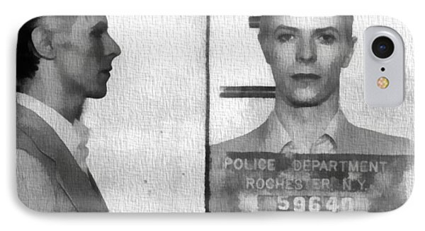 David Bowie Mug Shot IPhone Case