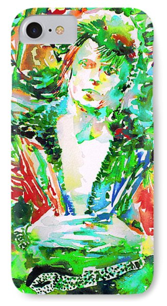David Bowie Watercolor Portrait.2 IPhone Case