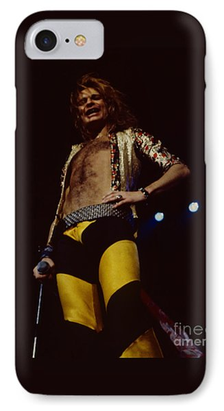 8432cc9bd06 Van Halen iPhone 8 Case - David Lee Roth - Van Halen At The Oakland Coliseum
