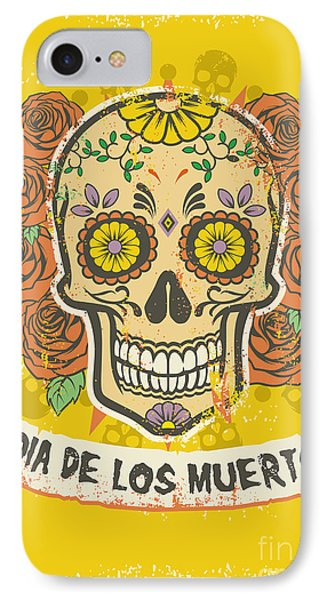 Rock And Roll iPhone 8 Case - Day Of The Dead Poster by Bazzier