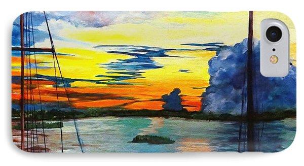 Daybreak Over  Apalachicola River  IPhone Case