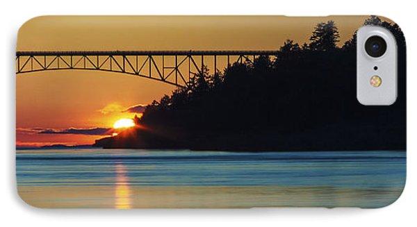 Deception Pass Bridge Sunset IPhone Case
