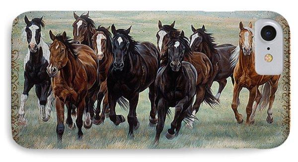 Deco Horses IPhone Case