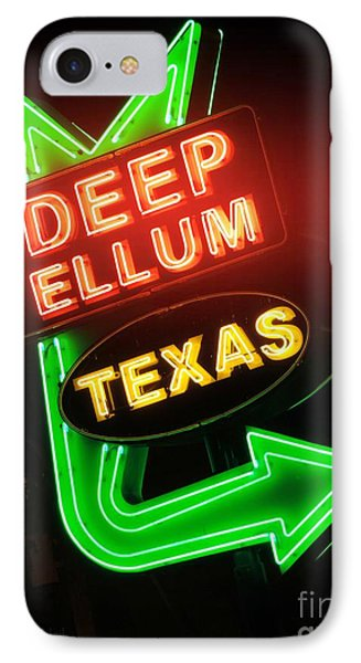 Deep Ellum Red Glow IPhone Case