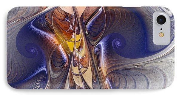 Delicate Spiral Duo In Blue IPhone Case