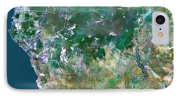 Republic Of South Africa iPhone 8 Case - Democratic Republic Of The Congo by Planetobserver/science Photo Library