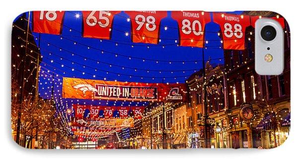 Denver Larimer Square Blue Hour Nfl United In Orange IPhone Case