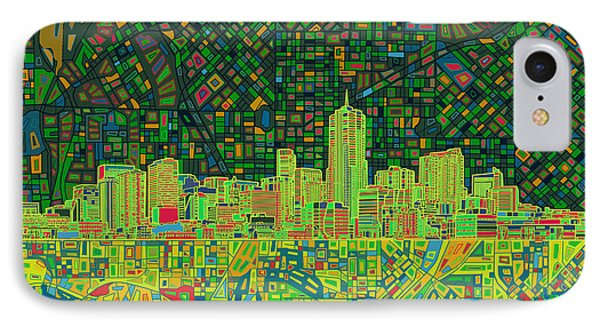 Denver Skyline Abstract 3 IPhone Case