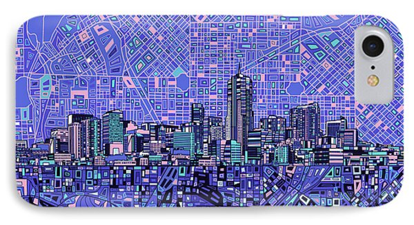 Denver Skyline Abstract 4 IPhone Case