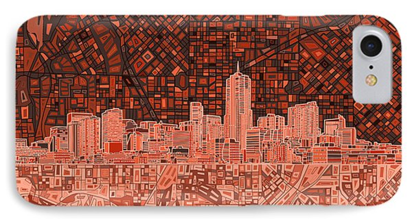 Denver Skyline Abstract 6 IPhone Case