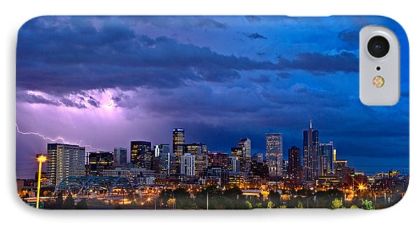 City Scenes iPhone 8 Case - Denver Skyline by John K Sampson