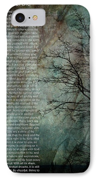 Desiderata Of Happiness - Vintage Art By Jordan Blackstone IPhone Case
