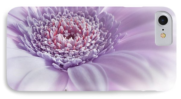 Close Up White Pink Flowers Macro Photography Art IPhone Case