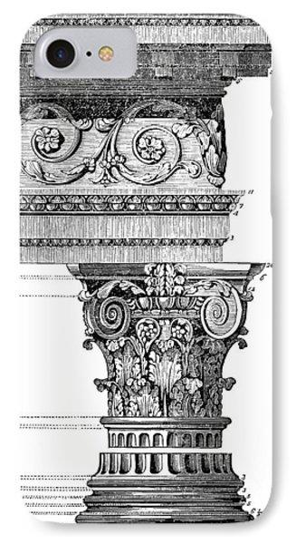Detail Of A Corinthian Column And Frieze I IPhone Case