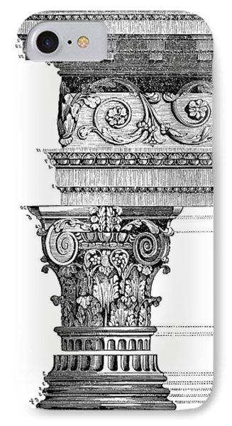 Detail Of A Corinthian Column And Frieze II IPhone Case