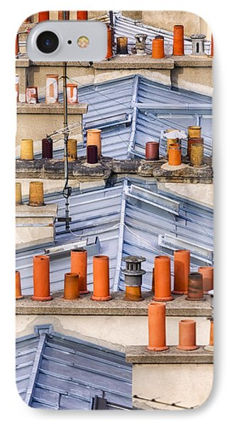 Detail Of Traditional Rooftops In Paris IPhone Case