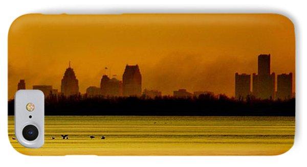 Detroit At Dawn IPhone Case