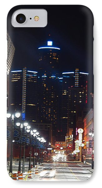 Detroit Between Tiger And Lion IPhone Case