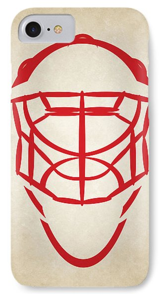 Detroit Red Wings Goalie Mask IPhone Case