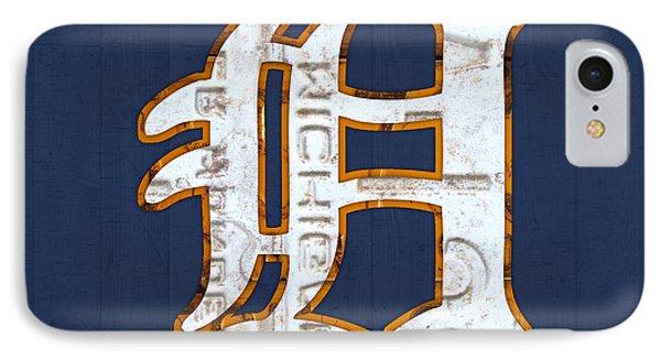 Detroit Tigers Baseball Old English D Logo License Plate Art IPhone Case