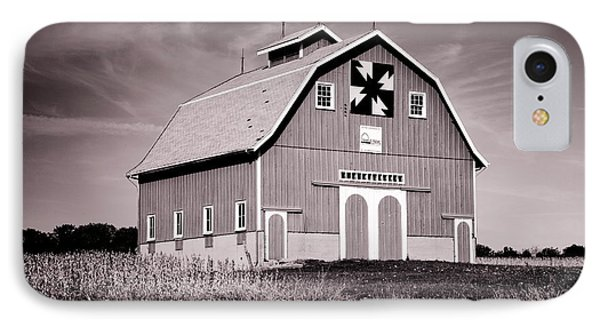 Dewitt County Barn B And W IPhone Case