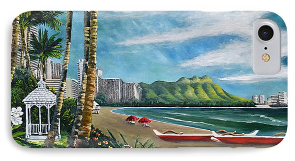 Diamond Head Waikiki IPhone Case