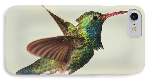Digitially Modified Broadbilled Hummingbird IPhone Case