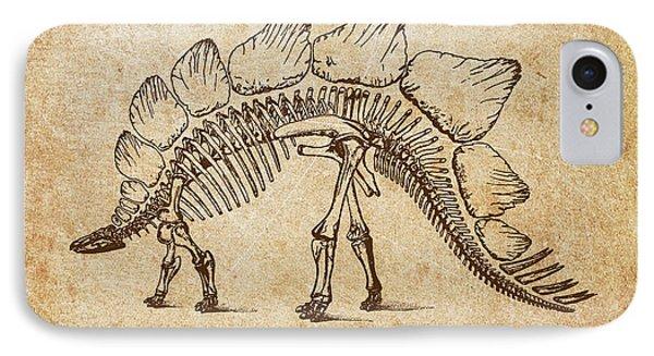 Dinosaur Stegosaurus Ungulatus IPhone Case