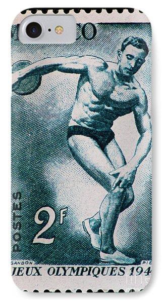 Discus Vintage Postage Stamp Print IPhone Case