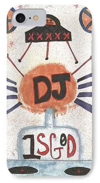 Dj Is God Pop Graffiti IPhone Case
