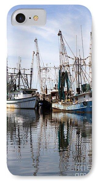 Docked Shrimp Boats IPhone Case