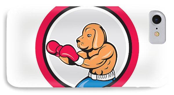 Dog Boxer Boxing Circle Cartoon IPhone Case