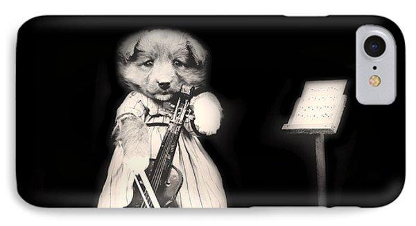Violin iPhone 8 Case - Dog Serenade by Mountain Dreams