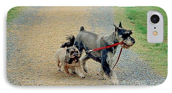 Dog Walks Dog IPhone Case