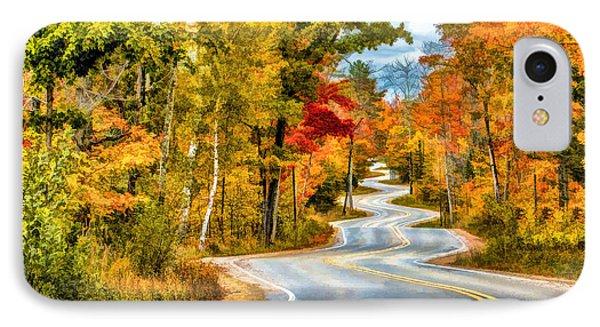Door County Road To Northport In Autumn IPhone Case
