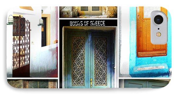 Doors Of Greece Collage IPhone Case