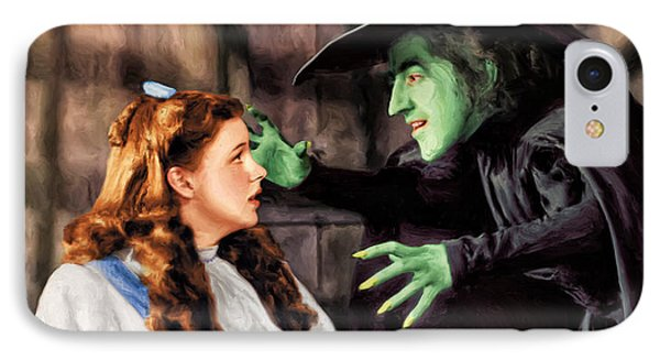 Dorothy And The Wicked Witch IPhone Case