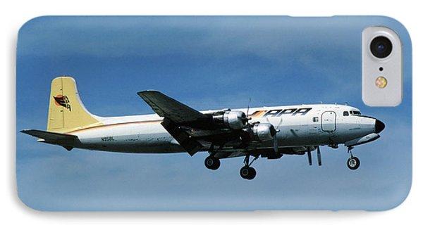 Douglas Dc-6bf  Landing  N95bl Apa IPhone Case