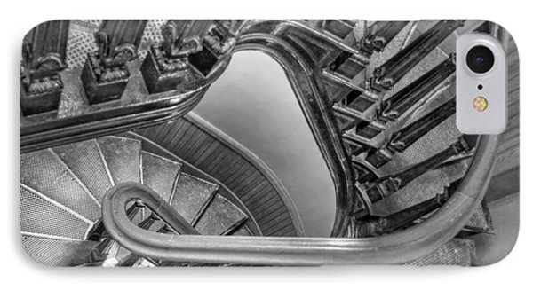Down The Side - Bw IPhone Case