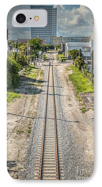 Down The Tracks - Downtown Miami IPhone Case