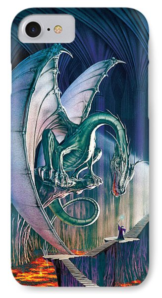 Dragon iPhone 8 Case - Dragon Lair With Stairs by The Dragon Chronicles - Robin Ko