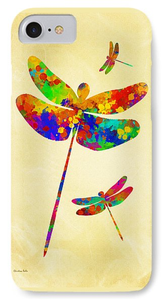 Dragonfly Watercolor Art IPhone Case
