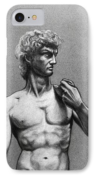 Drawing Of Michelangelos David IPhone Case
