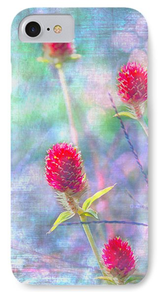 Dreamy Red Spiky Flowers IPhone Case