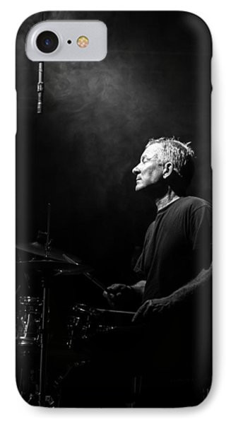 Drum iPhone 8 Case - Drummer Portrait Of A Muscian by Bob Orsillo