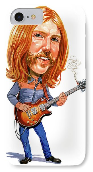 Music iPhone 8 Case - Duane Allman by Art