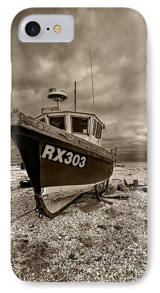 Dungeness Boat Under Stormy Skies IPhone Case