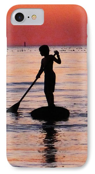 Dusk Float - Sunset Art IPhone Case