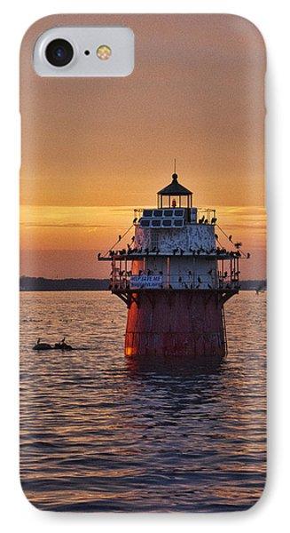 Duxbury Pier Light At Sunset IPhone Case